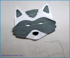 Masque raton laveur DIY 5