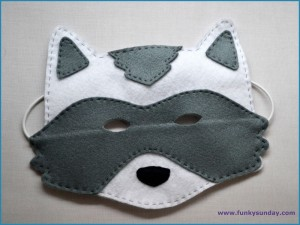 Masque raton laveur DIY 8