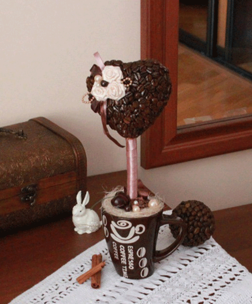 Кофейный топиарий своими руками фото
