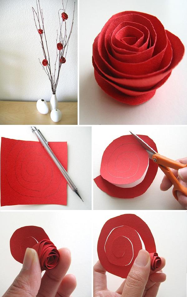 Как из картона сделать розу или цветок